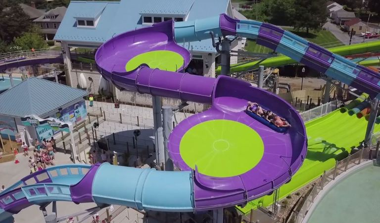 Breakers Edge Water Coaster at Hersheypark is the world's first hydromagnetic water coaster with flying turns to smoothly rocket riders through splash-filled hills and sweet thrills that are perfect for the whole family. (Image: Courtesy Hersheypark)