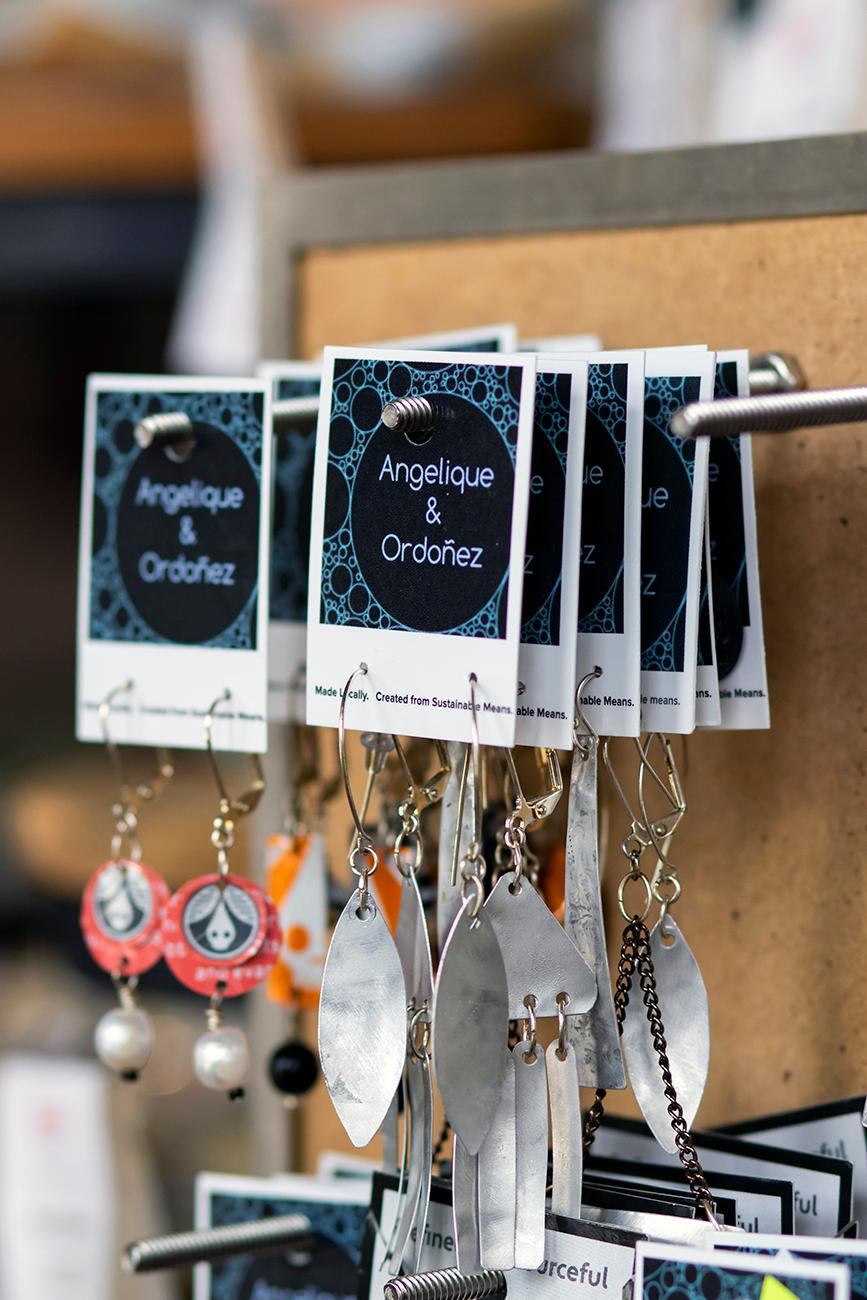 Local products like handmade cards, jewelry, and baked goods are sold in the shop. / Image: Allison McAdams // Published: 8.29.19