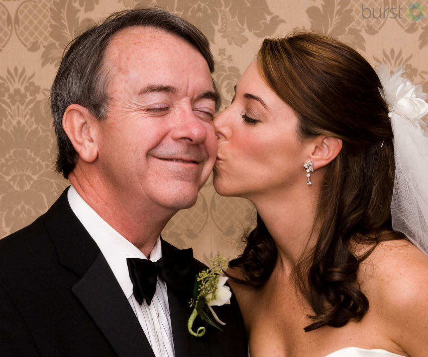 NBC3 Anchor Megan Coleman with her Dad on her Wedding Day