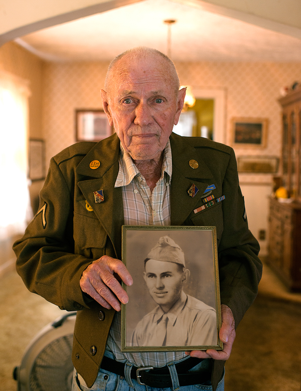 CHESTER BISHOP / He enlisted after hearing about a neighbor's brother being killed in North Africa, and he went on to see 209 days of combat over several European campaigns. Read more of his story at facebook.com/theygaveitall. / Image: Patrick McCue // Published: 1.29.17