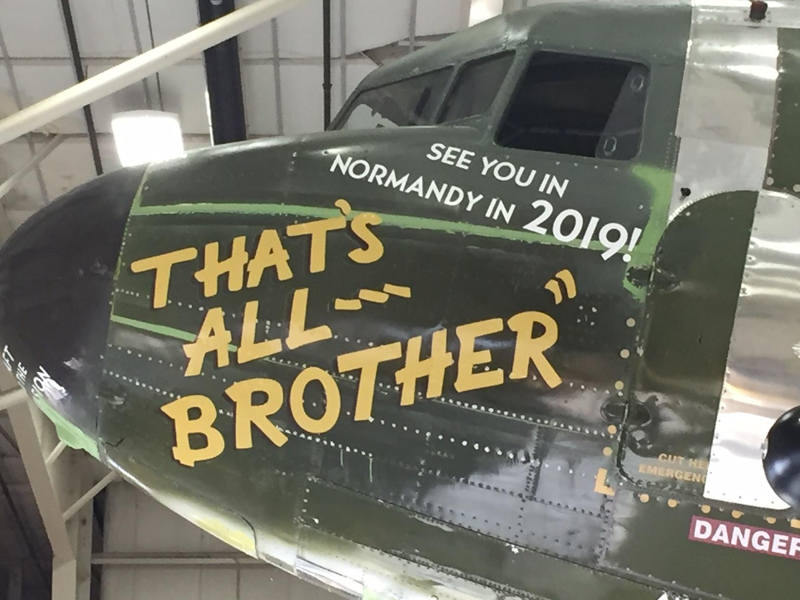 That's All Brother is seen Dec. 14, 2017, during restorations at Basler Turbo Conversions in Oshkosh. (WLUK/Alex Ronallo)