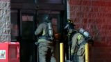 First responders fight fire in Flint grocery store