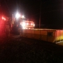 Crews battling a mobile home fire in Hannibal