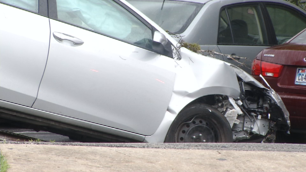 Police search for suspect who fled scene after crashing through ...