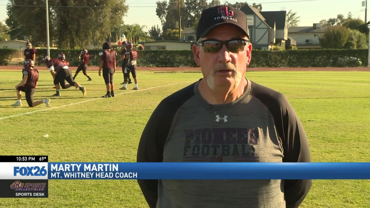 A couple miles away at Mt. Whitney, Marty Martin is in his eighth year coaching the Pioneers. He's closing in on 200 career wins.