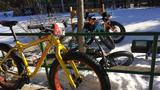 Frigid temperatures aren't stopping fat-tire bike riders