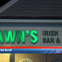 "Customers ""Back the Blue"" in honor of Detective Picking at Shawn's Irish Tavern"