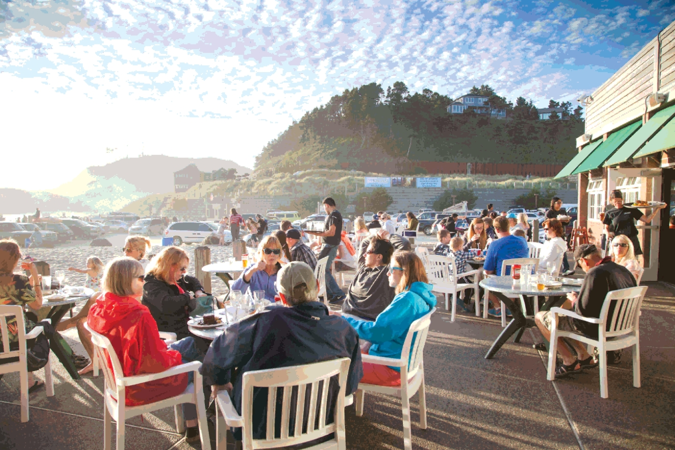 Head over to Pacific City for great shopping, great views and a great meal.