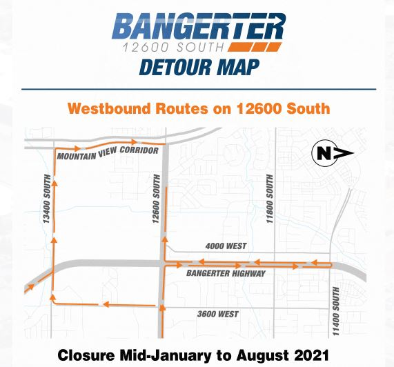 12600 South to close for 7 months at Bangerter Highway (Photo: UDOT)