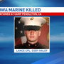 Iowan Marine dies at Camp Pendleton in California