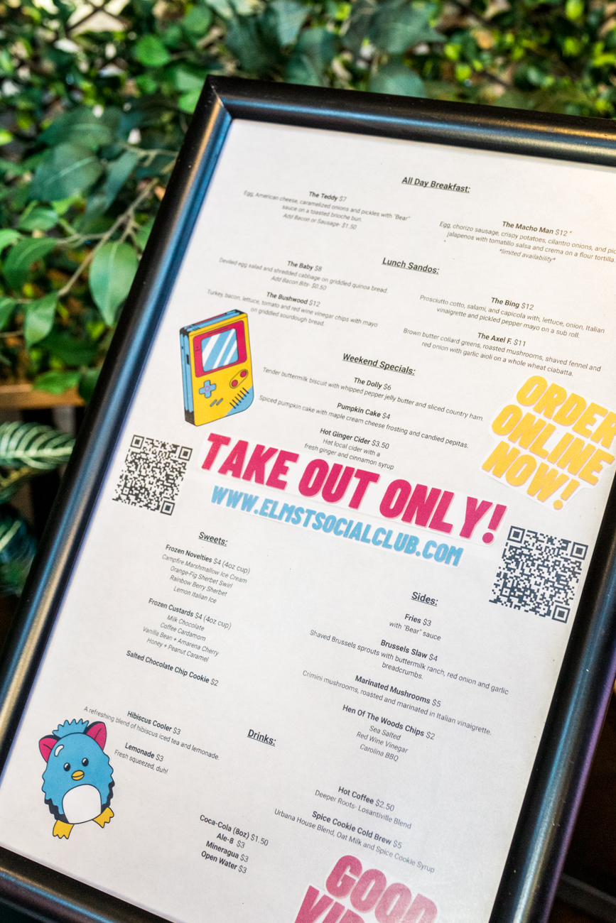 "<p>As a takeout-only restaurant, dine-in service is unavailable. To place a carryout order, guests can call (513) 263-6893 or order conveniently online{&nbsp;}<a  href=""https://www.toasttab.com/social-otr-1819-elm-st/v3"" target=""_blank"" title=""https://www.toasttab.com/social-otr-1819-elm-st/v3"">here</a>. Their{&nbsp;}<a  href=""https://sinclairstoryline.com/elmstsocialclub.com"" target=""_blank"" title=""elmstsocialclub.com"">website{&nbsp;}</a>also details the full menu and hours of operation. / Image: Catherine Viox // Published: 11.13.20</p>"