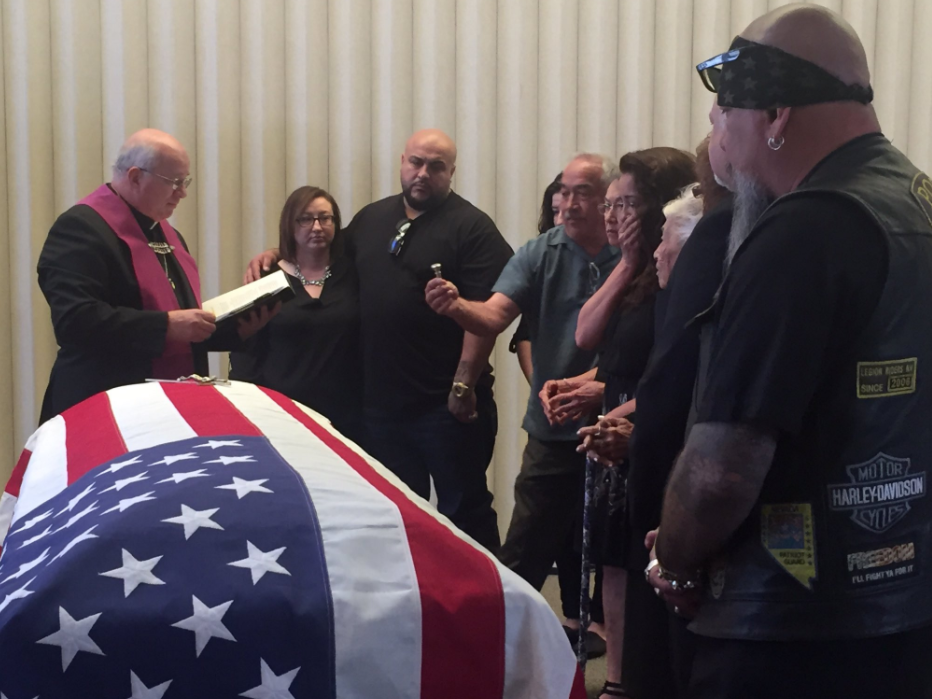 A long overdue homecoming in Boulder City, where, 67 years after he was declared missing in action, Korean War veteran Manuel Quintana is now laid to rest. 5/19/17 (Kelsey Thomas | KSNV)