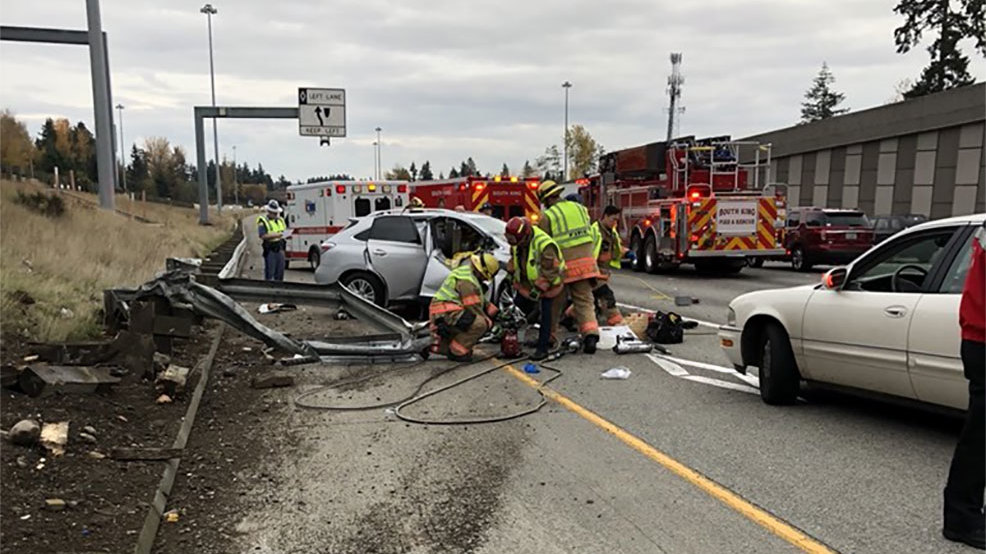 Woman killed in multi-vehicle crash on I-5 near Federal Way
