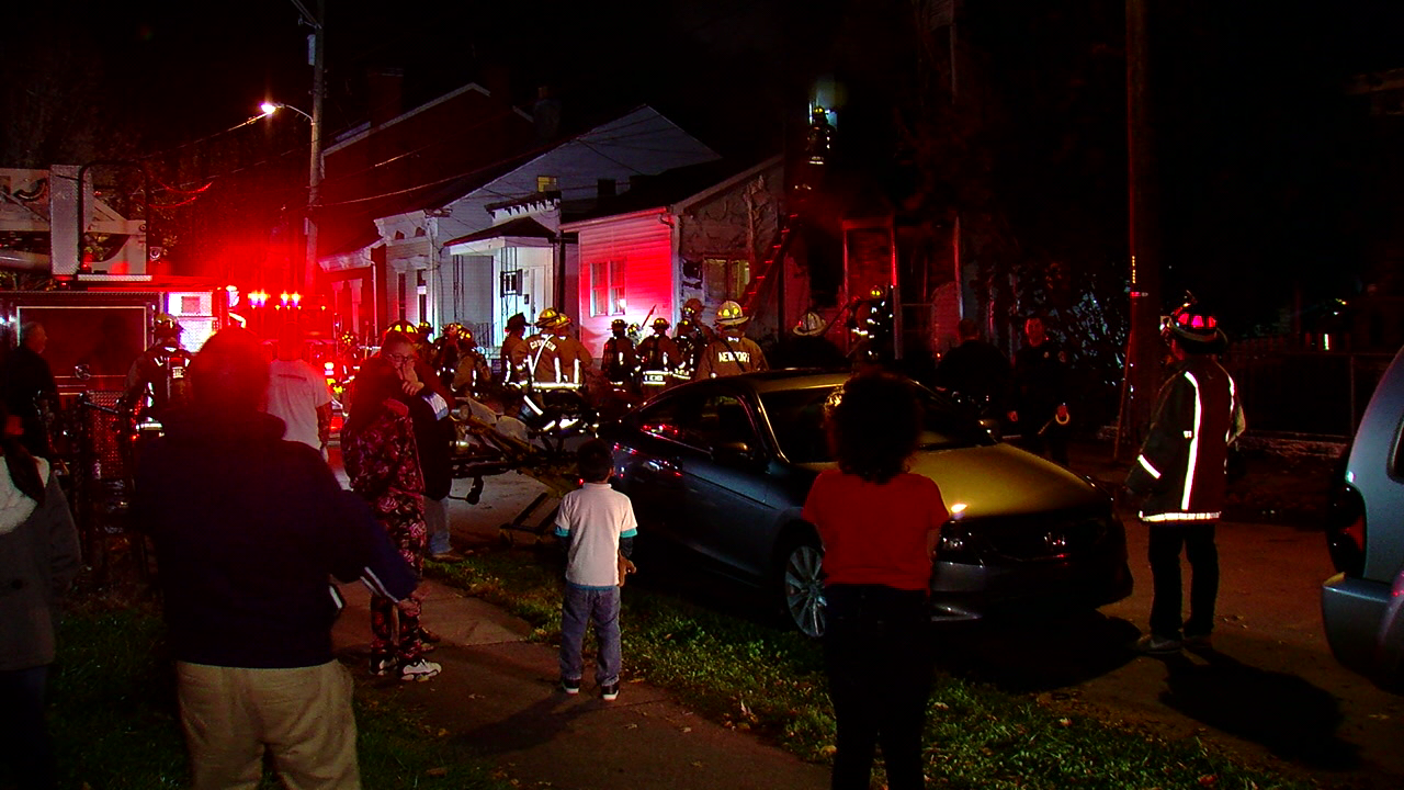Crews battle house fire on Banklick Street in Covington (WKRC)