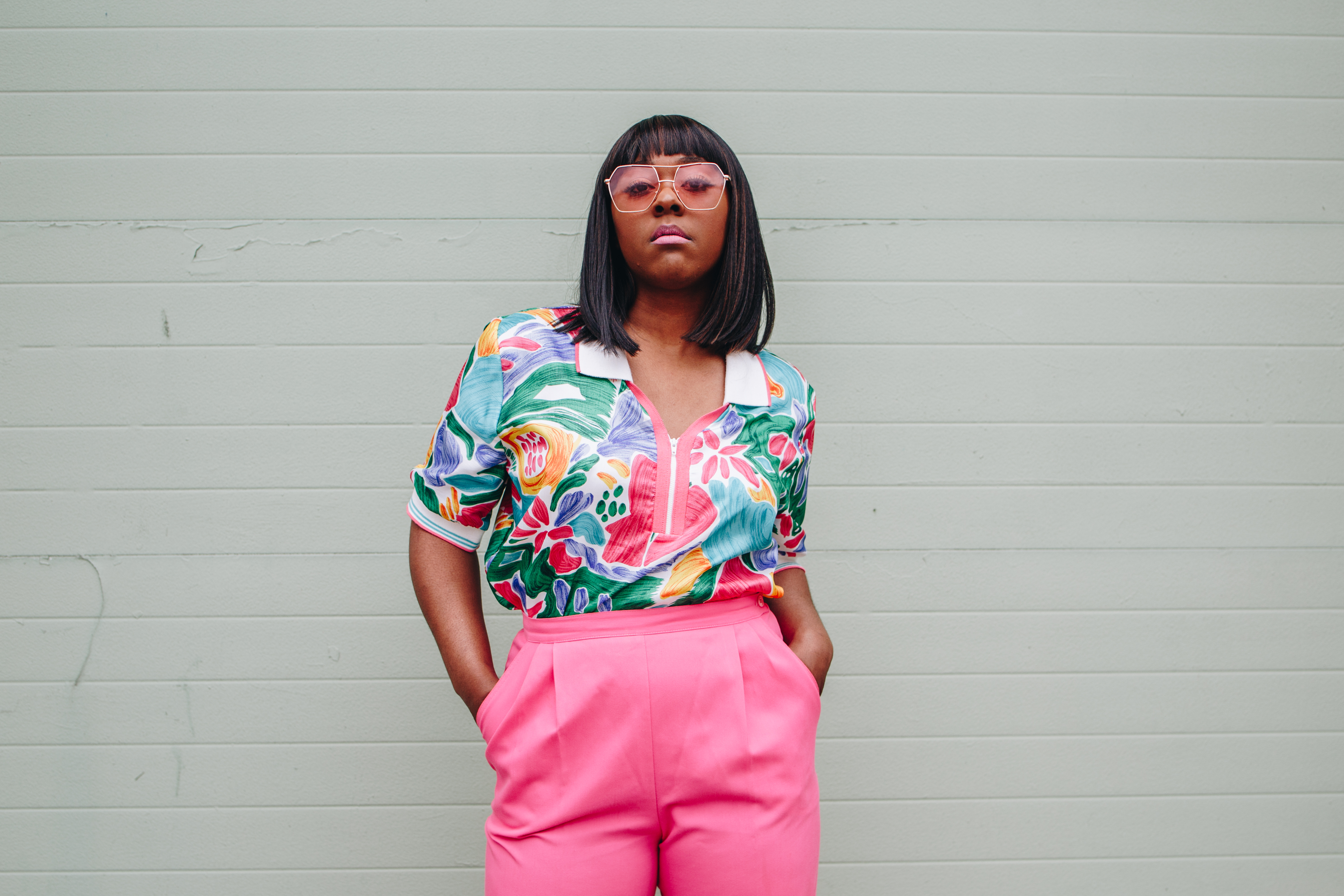 "Pictured: Adrienne Anderson / Story: ""Going to The Thrift Shop Will Inevitably Land You Your New Favorite Outfit"" / Image: Catie Viox // Published: 6.6.18"
