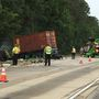 2 tractor trailers crash on I-16 in Twiggs Co.