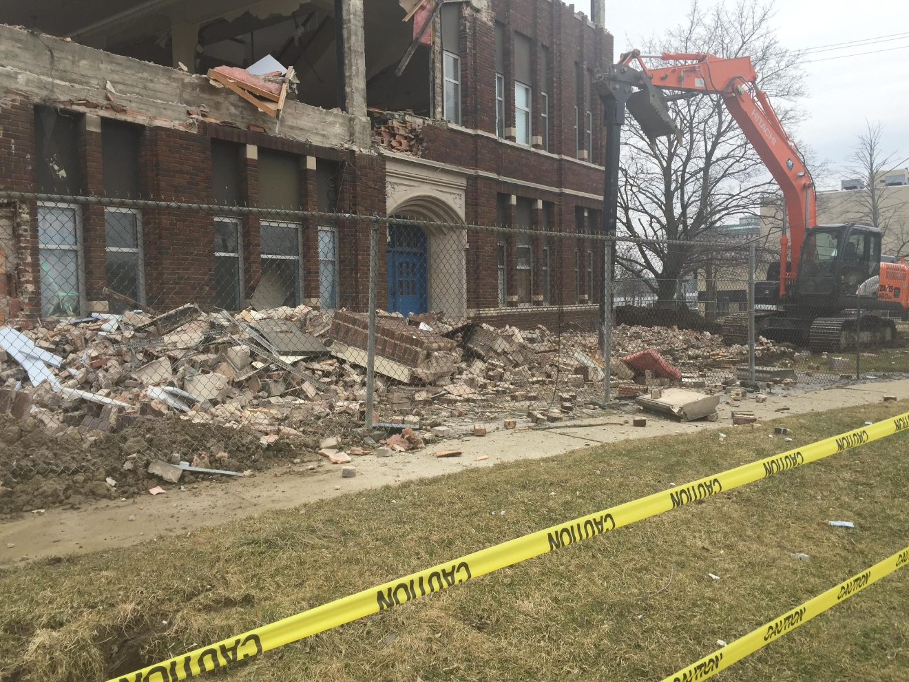 An iconic 1920s building in Flint is being demolished right now. The former Catholic school holds many memories for its former students. (Photo Credit: Stephanie Parkinson)