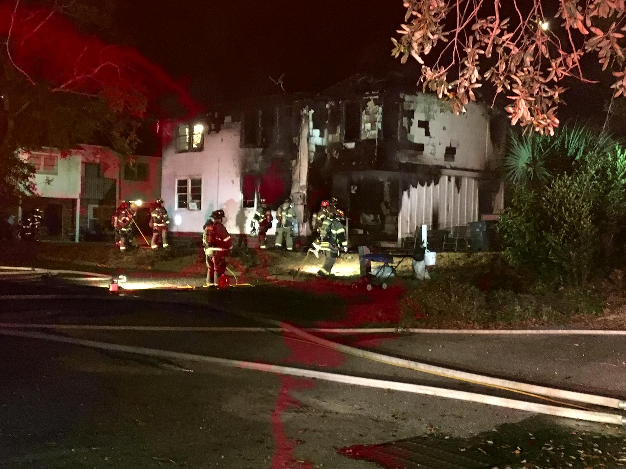 Crews responded to a house fire in Myrtle Beach Tuesday evening. (WPDE)