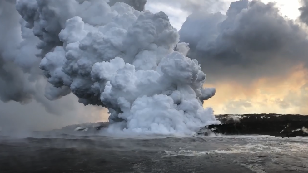 Inside the Storm: Lava enters the ocean from Kilauea causing toxic plumes