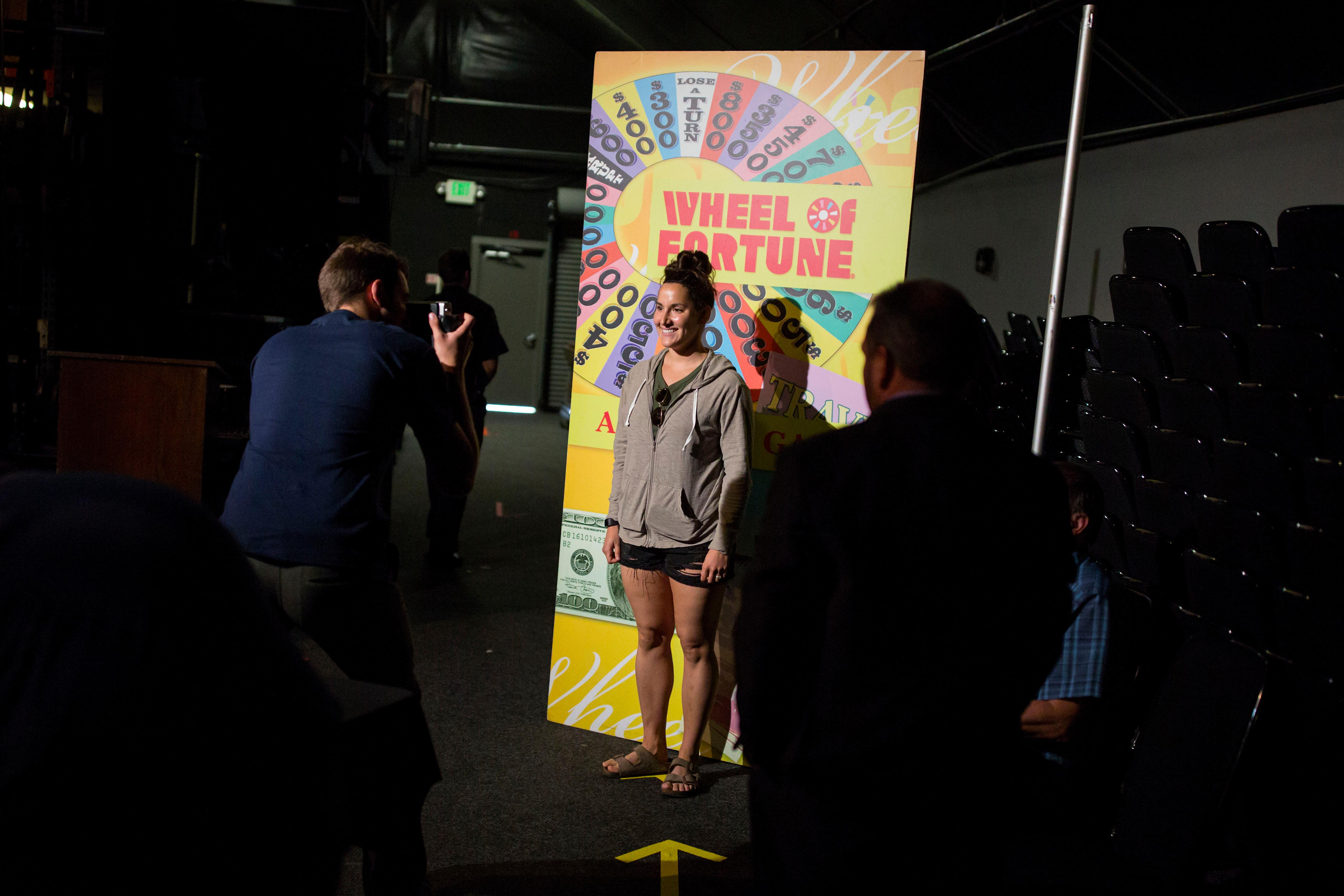 The Wheel of Fortune Wheelmobile made its way through the Emerald Queen Casino on Wednesday night for open auditions to the public for an opportunity to be a part of America's game show. The casting will continue Thursday night. (Sy Bean / Seattle Refined)