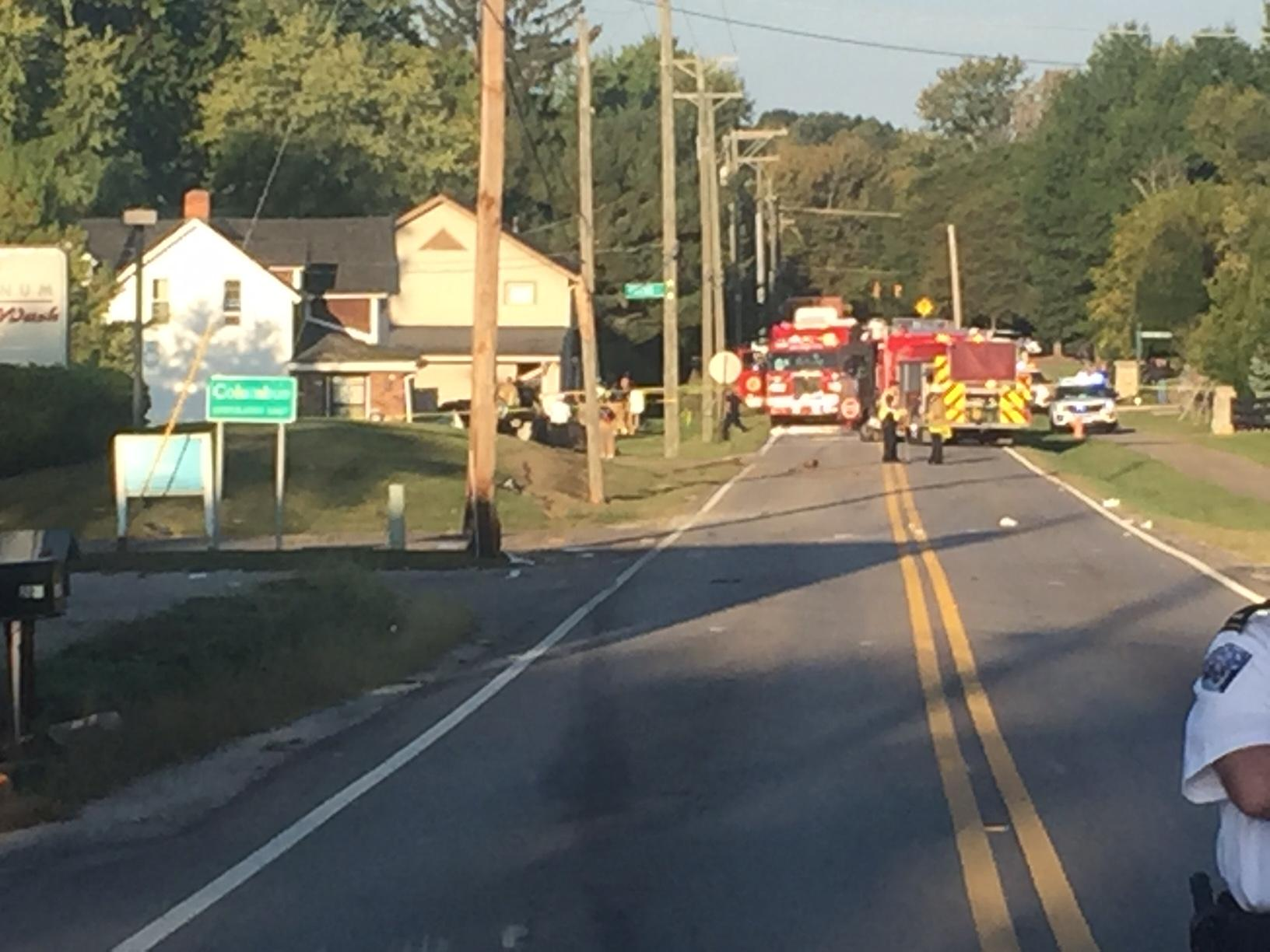 Sharon Township police are on the scene of an accident on Park Road. (WSYX/WTTE)