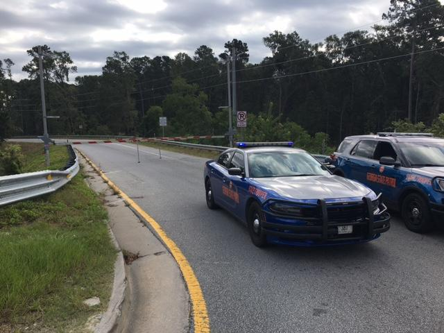 Georgia State Patrol closed off all eastbound lanes on I-16 for a time to accommodate everyone exiting Savannah. (WTGS/Robert Catanese)