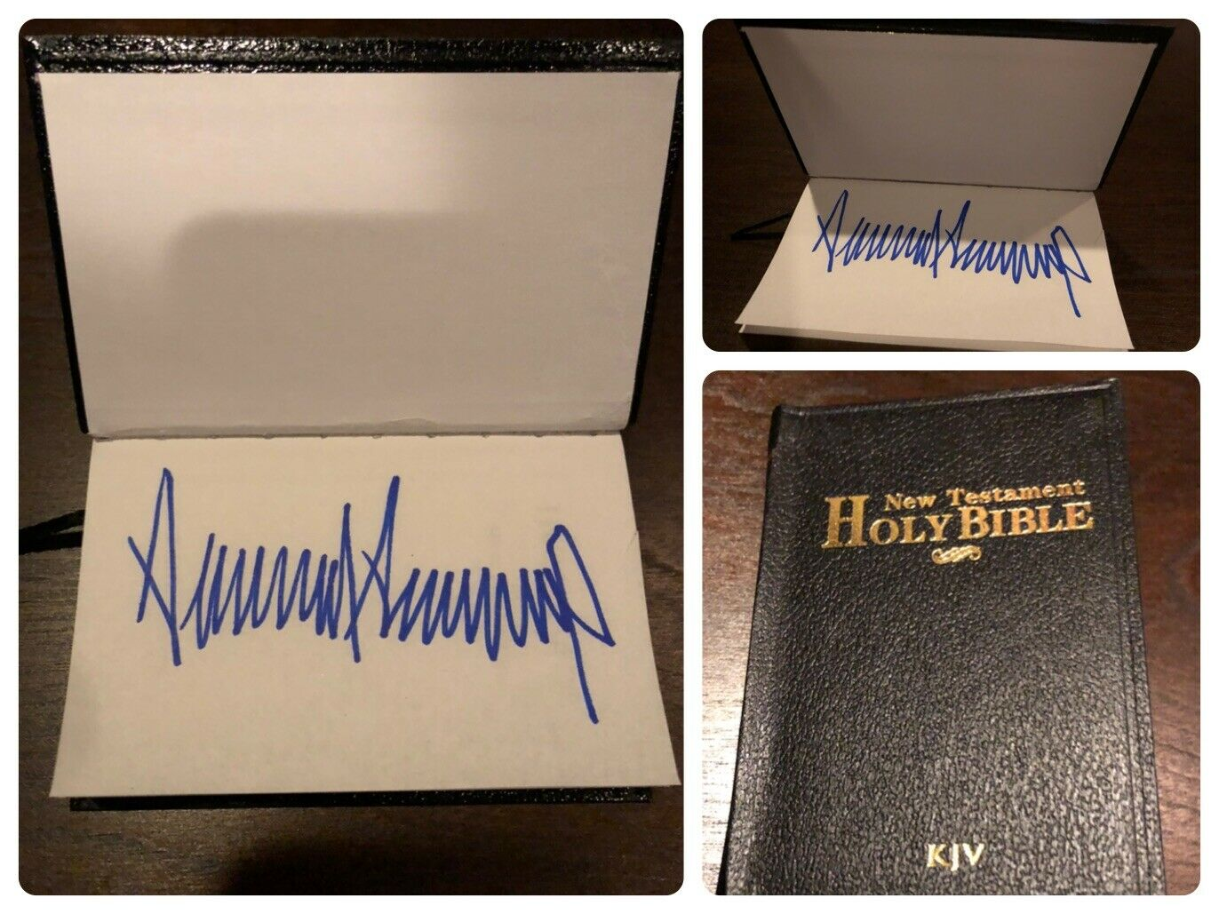 Trump signed Bible for sale on eBay. (Photo: Screengrab from eBay)