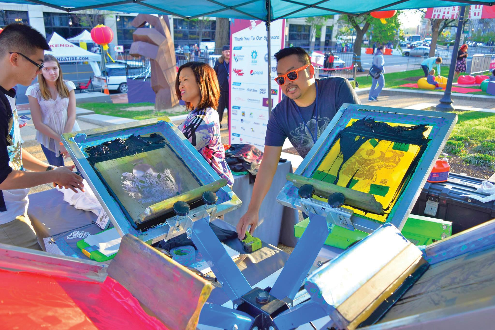 Don't miss live t-shirt screen printing by Soul & Ink. (Image: Courtesy Events DC)