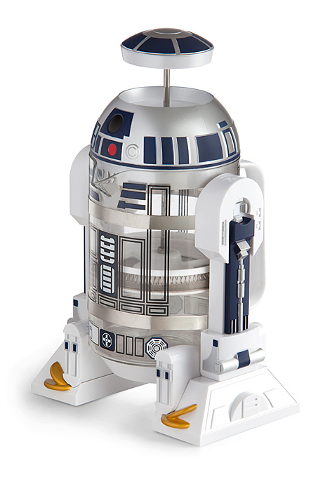 The Star Wars coffee fanatic in your life will be awe-struck when presented with the R2D2 french press.{&amp;nbsp;}R2D2 holds 32 ounces of piping hot coffee and can be found at ThinkGeek.com for $29.99.{&amp;nbsp;} (Image: ThinkGeek)<p></p>