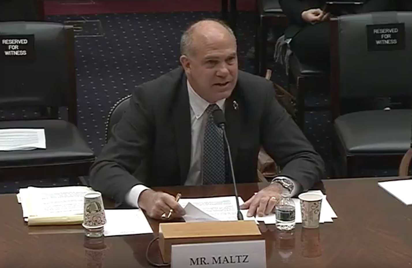 Derek Maltz Photo:  House Foreign Affairs Committee YouTube<p></p>
