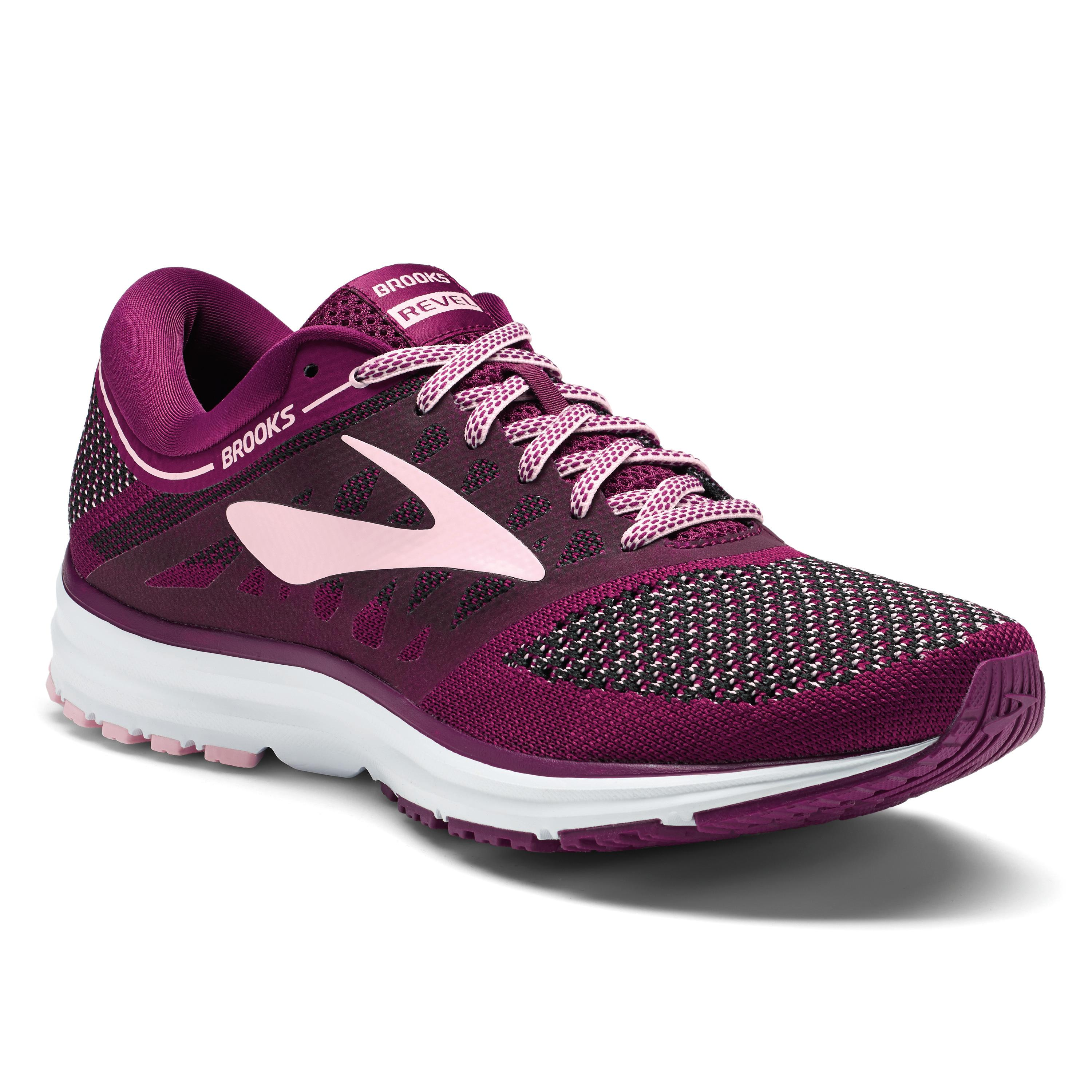 Seattleites are active! This brand new style blends street-ready looks and performance running in one sweet shoe. With its knit upper and soft cushioning, the Revel is ready for just about anything. The plum color is perf for Spring.{ } A bit bolder than an average shoe. The Revel, Brooks Running - $100. (Image: Brooks Running){ }