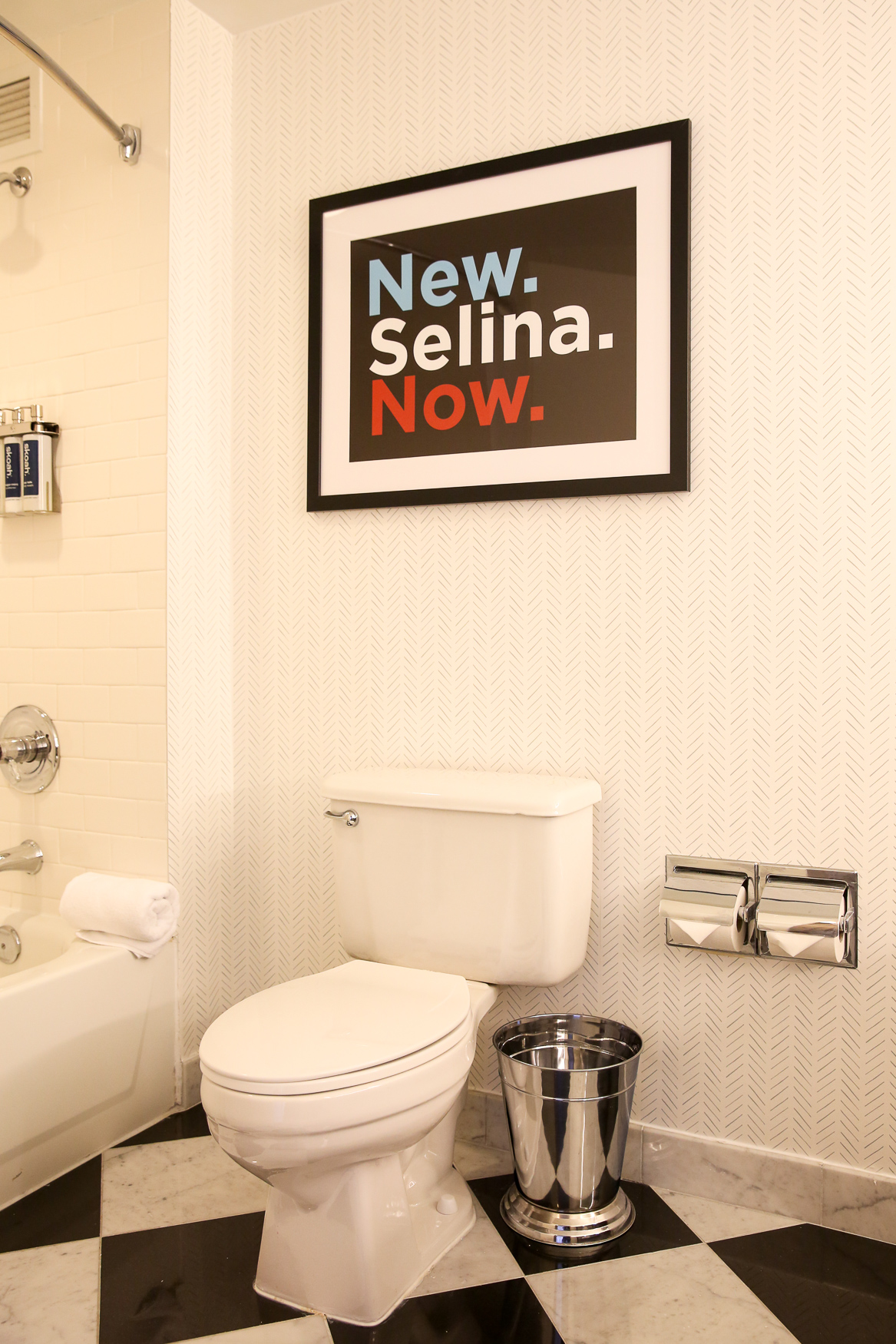 HBO's wildly funny and successful show 'Veep' has earned a place in many Washingtonians' hearts for its sharp skewering of D.C. politics. Now you can get even closer to fictional president Selina Meyer, played byJulia Louis-Dreyfus, at The Hamilton Hotel's new 'Veep' themed suite. The suite is available by reservation and it's a replica of Meyer's D.C. brownstone - in fact, many of the decorations were used on the show and were provided by HBO. If you're not planning on staying the night, anyone can pop up to the 12th floor and take a tour of a replica of Meyer's Oval Office. The display will be up through 2020. (Amanda Andrade-Rhoades/DC Refined)